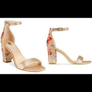 INC Kivah Gold Floral Heel
